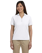 Devon & Jones Classic D100W Women's Pima Pique Short-Sleeve Y-Collar Polo at GotApparel