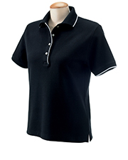 Devon & Jones Classic D120W  Ladies Tipped Polo at GotApparel