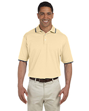 Devon & Jones Classic D140 Men Tipped Perfect Pima Interlock Polo at GotApparel