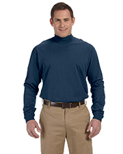 Devon & Jones Classic D420 Unisex Sueded Cotton Jersey Mock Turtleneck at GotApparel