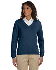 Devon & Jones Classic D475W  Womens V-Neck Sweater at GotApparel