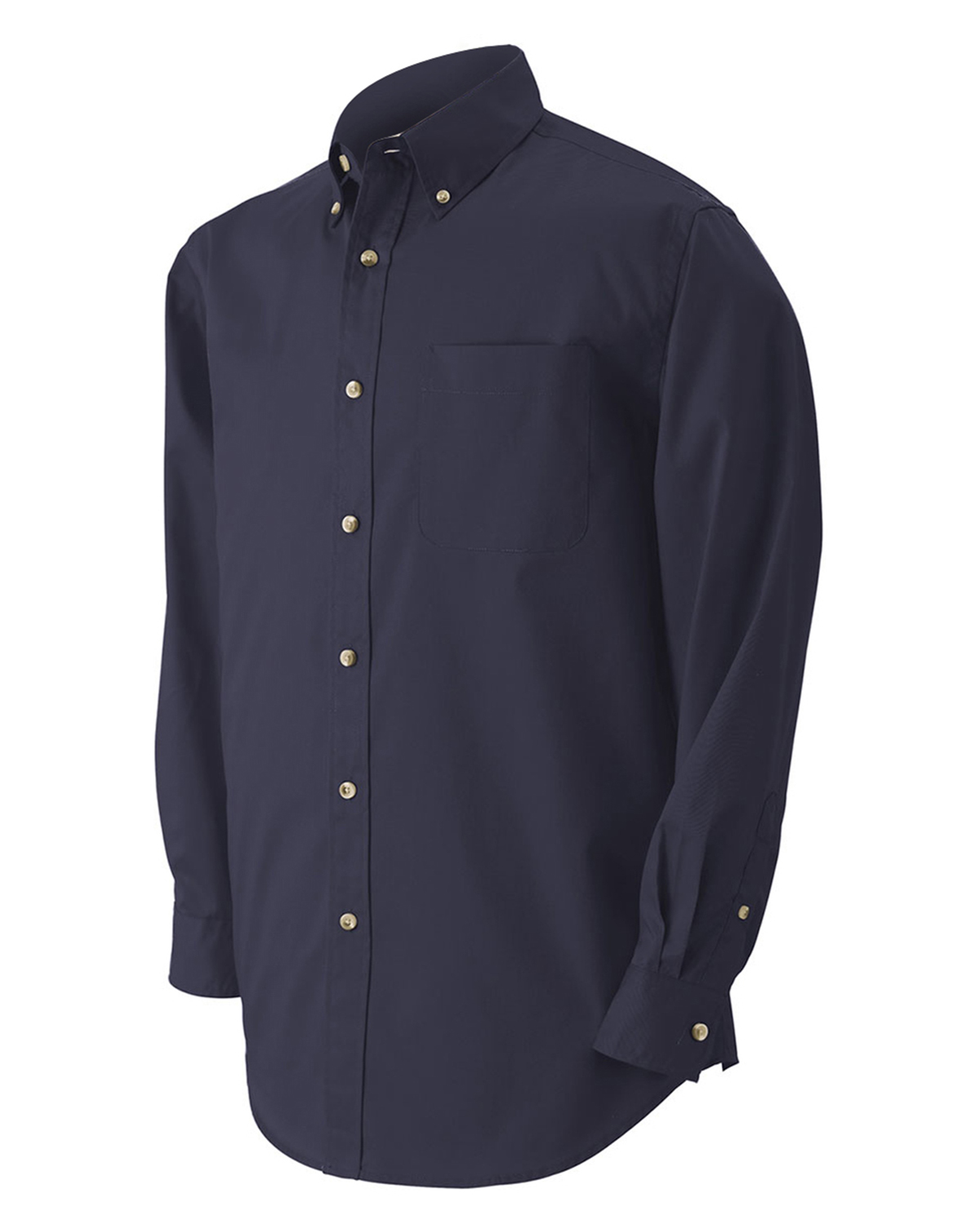 Devon & Jones Classic D555 Men Performance Long Sleeve Twill at GotApparel