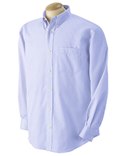 Devon & Jones Blue D605  Advantage Pinpoint Oxford at GotApparel