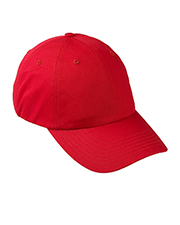 Devon & Jones Blue D845GR 6-Panel Organic Cotton Baseball Cap at GotApparel