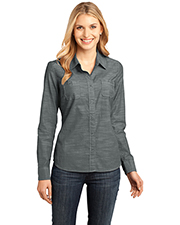 District DM4800 Women's Made Long-Sleeve Washed Woven Shirt at GotApparel