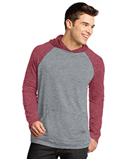 District Threads DT128 District® Young Mens 50/50 Raglan Hoodie  at GotApparel