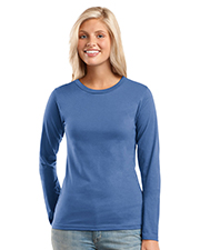 District Threads DT201  Junior Ladies Long Sleeve Perfect Weight District Tee at GotApparel
