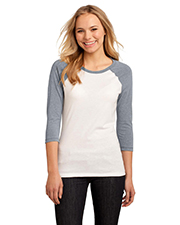 District DT228 Women 50/50 3/4-Sleeve Raglan Tee