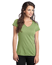 District Threads   - Junior Ladies Slub V-Neck Tee. DT240