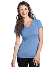 District Threads DT242V NEW  Junior Ladies Tri-Blend V-Neck Tee at GotApparel