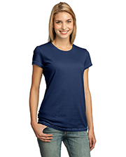 District Threads DT244 NEW  Junior Ladies Tick Stitch Tee at GotApparel