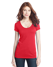 District Threads DT245 NEW  Junior Ladies Deep Scoop Tee at GotApparel