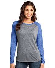 District Threads DT262 District® Juniors Microburn? Long Sleeve Raglan Tee  at GotApparel