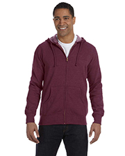 Econscious EC5680 Men 7 oz. Organic/Recycled Heathered FullZip Hood at GotApparel