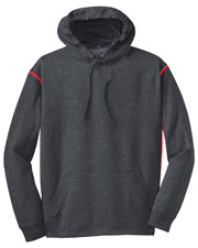 Sport-Tek F246 Men Tech Fleece Colorblock Hooded Sweatshirt at GotApparel