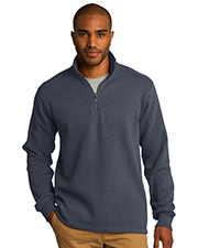 Port Authority F295 Men Slub Fleece 1/4Zip Pullover at GotApparel