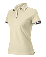 Harvard Square HS360W Women Ladies Pima Reserve Tipped Pique Sport Shirt