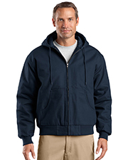 CornerStone® J763H Men's Duck Cloth Hooded Work Jacket at GotApparel