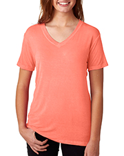 J America J8132 Women Oasis Wash VNeck Tee at GotApparel