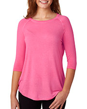 J America J8232 Women Oasis Wash 3/4Sleeve Tee at GotApparel