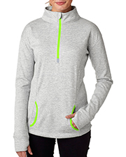 J America J8617 Women Cosmic 1/4Zip Fleece at GotApparel