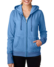 J America J8665 Women Oasis Wash FullZip Hooded Fleece at GotApparel