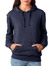 J America J8860    J.America Ladies' Glitter French Terry Hooded Fleece  at GotApparel