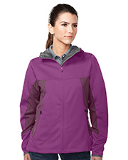 Tri-Mountain Performance JL6158 Women's Bellaire Hoody Jacket With Contrast Side Panel And Zip Pockets