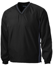 Sport-Tek JST62 Men Tipped V-Neck Raglan Wind Shirt at GotApparel