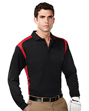Blitz Long Sleeve-Men's 100% Polyester L/S Knit Shirt w/Rib Cuff, 3 Button Placket