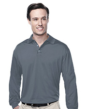 TRI-MOUNTAIN PERFORMANCE K224LS Men Campus Long Sleeve Golf Shirt at GotApparel