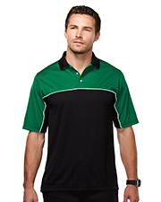 Heel-Toe-Men's 100% Polyester Color Blocking Polo Shirt