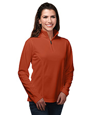 TRI-MOUNTAIN PERFORMANCE KL628   Women 100% Polyester Knit 1/4 Zip Pullover W/Tmp Puller at GotApparel