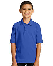 Port & Company KP55Y Boys 55Ounce Jersey Knit Polo at GotApparel