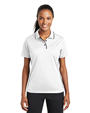 Sport-Tek L467 Women DriMesh   Polo with Tipped Collar and Piping