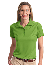 Port Authority L498 Women PolyBamboo Charcoal Birdseye Jacquard Polo at GotApparel