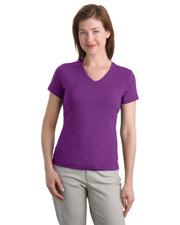 Port Authority L516V Women Modern Stretch Cotton V-Neck Shirt at GotApparel