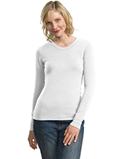 Port Authority L518 NEW  Ladies Modern Stretch Cotton Long Sleeve Scoop Neck Shirt at GotApparel