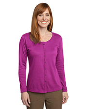 Port Authority L530 Women Silk Touch™ Interlock Cardigan at GotApparel