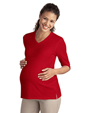 Port Authority ®  Ladies Silk Touch™ Maternity 3/4-Sleeve V-Neck Shirt