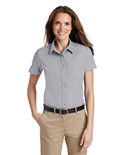 Port Authority L633 Women Short Sleeve Value Poplin Shirt at GotApparel