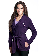 Lilac Bloom LB673 Women's Bethany French Terry Robe Jacket With Faux Belt