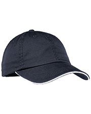 Port Authority LC830 Women Sandwich Bill Cap with Striped Closure at GotApparel