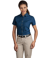 Port & Company LSP11 Women Short Sleeve Value Denim Shirt
