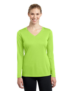 Sport-Tek LST353LS Women Long Sleeve VNeck PosiCharge™ Competitor™ Tee at GotApparel