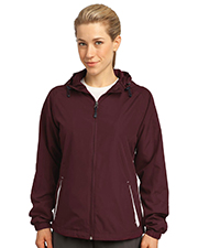 Sport-Tek - Women's Colorblock Hooded Jacket