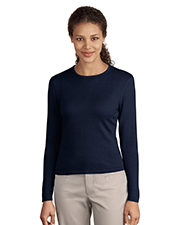 Port Authority LSW283  Signature Ladies Fine-Gauge Long Sleeve Crewneck Sweater at GotApparel