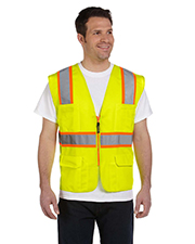 OccuNomix LUXATR Men Classic Mesh TwoTone Surveyor Vest, Class 2 at GotApparel