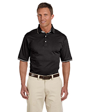Harriton M140 Men Jersey Polo W/Tipping