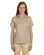 Harriton M140W  Ladies Jersey Polo w/Tipping at GotApparel
